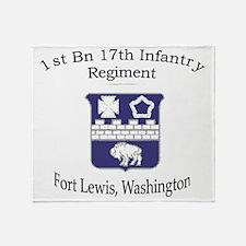 1st Bn 17th Infantry Throw Blanket