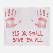 Big or Small Throw Blanket