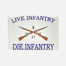 1st Bn 17th Infantry cap3 Rectangle Magnet