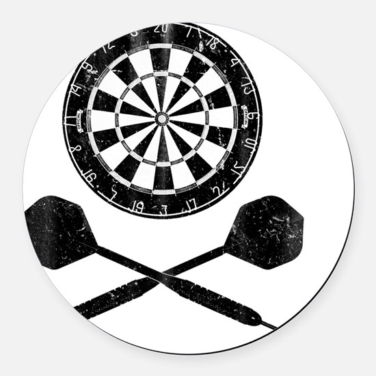 Darts_shirt Round Car Magnet
