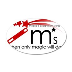 Ms3 35x21 Oval Wall Decal