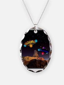 CE3K UFOs V2 Necklace Oval Charm