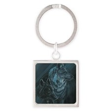 I Will Follow You Square Keychain