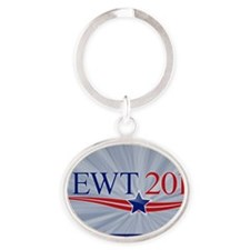 yard-sign_gingrich_02 Oval Keychain