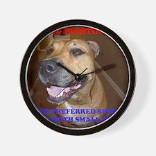 DOG FIGHTING2 Wall Clock