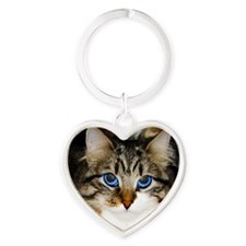 Carly the Artisit Heart Keychain