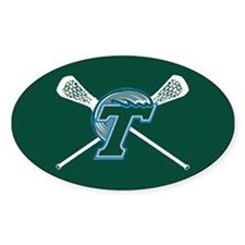 Tulane Lacrosse Oval Decal