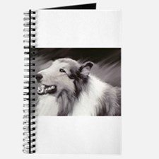 B&W Laughing Collie Journal