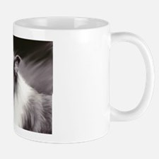 B&W Laughing Collie Mug
