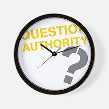 QUESTIONAUTHORITYDRK Wall Clock