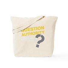 QUESTIONAUTHORITYDRK Tote Bag