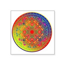 "Mandala1 Square Sticker 3"" x 3"""
