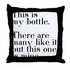 my bottle Throw Pillow