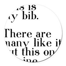my bib Round Car Magnet