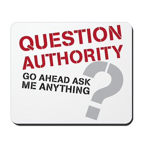 QUESTIONAUTHORITY Mousepad