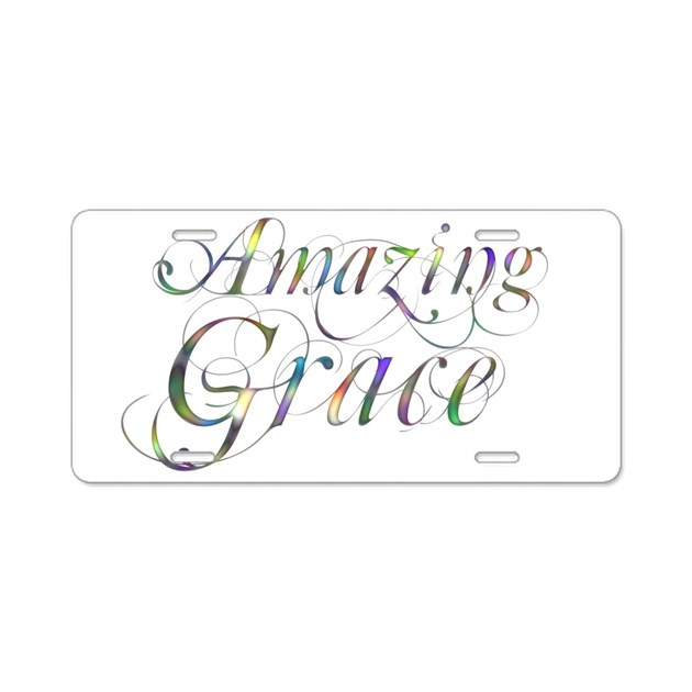 Amazing Grace Aluminum License Plate by Admin_CP38943689
