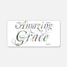 Amazing Grace Aluminum License Plate