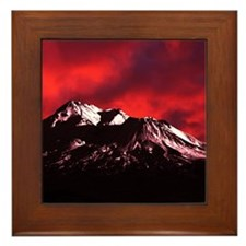 (4) Shasta Red Cloud Framed Tile