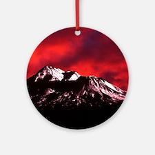 (4) Shasta Red Cloud Round Ornament