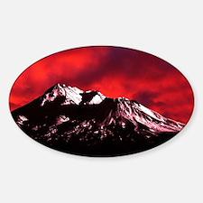 (4) Shasta Red Cloud Sticker (Oval)