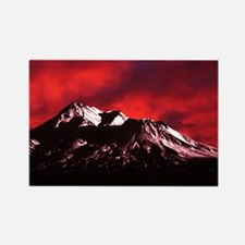 (4) Shasta Red Cloud Rectangle Magnet