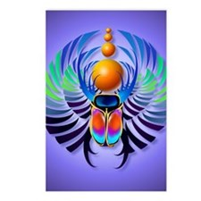 Hot Scarab Purple PosterP Postcards (Package of 8)