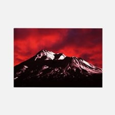 (6) Shasta Red Cloud Rectangle Magnet