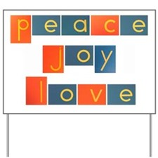 peacelovejoyflat Yard Sign