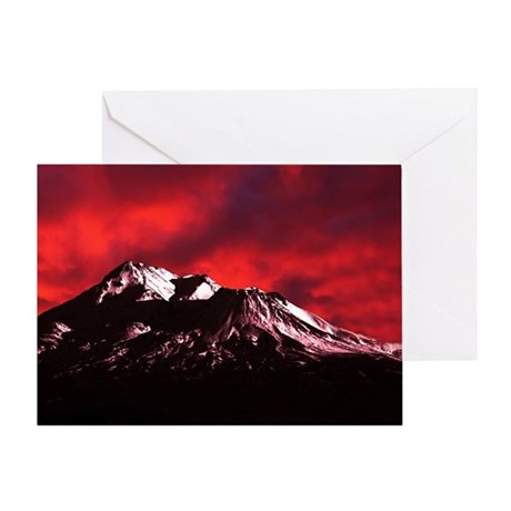 (12) Shasta Red Cloud Greeting Card