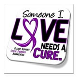 Cystic fibrosis Square Car Magnets
