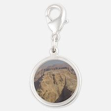 masada Silver Round Charm