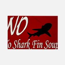 no-shark-fin-soup-pcard2 Rectangle Magnet