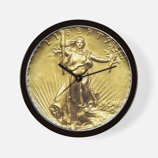 Liberty Gold Coin Wall Clock