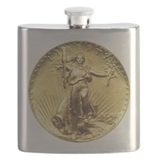 Liberty Gold Coin Flask