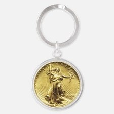 Liberty Gold Coin Keychains