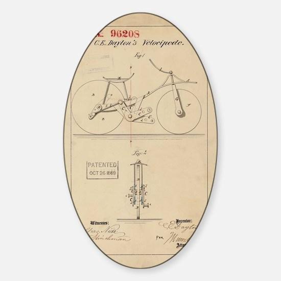 Velocipede Sticker (Oval)
