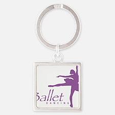 ballet Square Keychain