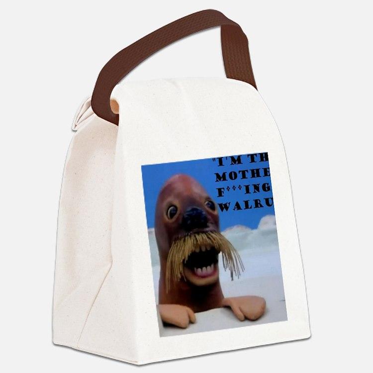walrus pingu Canvas Lunch Bag