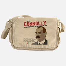 James Connolly quote on White Messenger Bag