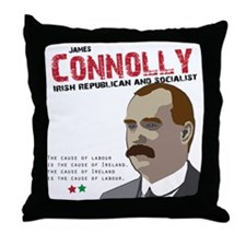 James Connolly quote on White Throw Pillow