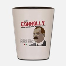 James Connolly quote on White Shot Glass