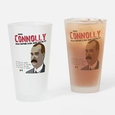 James Connolly quote on White Drinking Glass