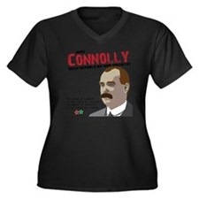 James Connol Women's Plus Size Dark V-Neck T-Shirt