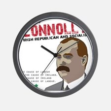 James Connolly quote on White Wall Clock