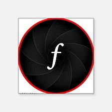 "L-lens-f Square Sticker 3"" x 3"""