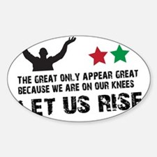 Jim Larkin quote black Sticker (Oval)