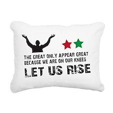 Jim Larkin quote black Rectangular Canvas Pillow