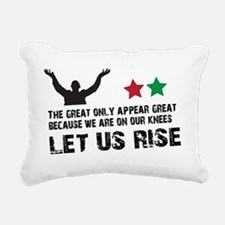 Jim Larkin quote black Rectangular Canvas Pillow