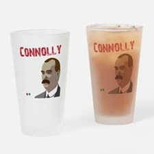 James Connolly quote on black Drinking Glass