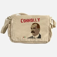 James Connolly quote on black Messenger Bag